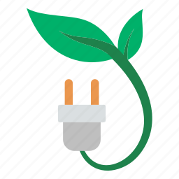 eco, ecology, electric, electricity, leaf, nature, plug icon