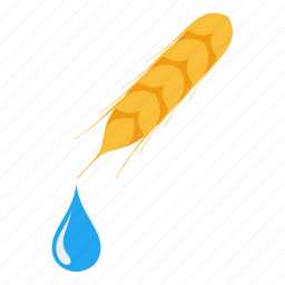 clean, drop, ecology, fuel, nature, oil, wheat icon