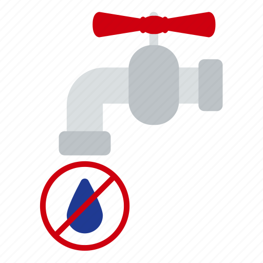 drop, ecology, economy, faucet, nature, stop, water icon