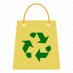 bag, ecology, nature, paper, recycle, shop, sign icon