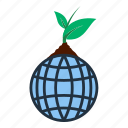 ecology, leaf, nature, planet, sprout, earth, globe