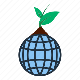 earth, ecology, globe, leaf, nature, planet, sprout icon