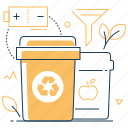 organic, sorting, waste, recycling icon