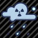 acid, cloud, hazard, rain icon