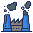 chimney, factory, plant, pollution icon