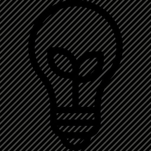 bulb, eco, ecology, energy, idea, lamp, nature icon