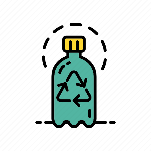 bottle recycling, ecology, environment, green, plastic, reuse icon