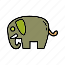 animal environment, conservation, elephant, mammal, natural, nature, wildlife icon