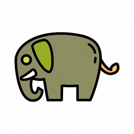 animal environment, conservation, elephant, mammal, natural, nature, wildlife icon