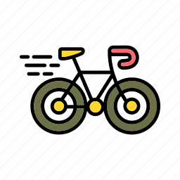 bicycle, bike, healthy, nature, transport, unpolluted icon
