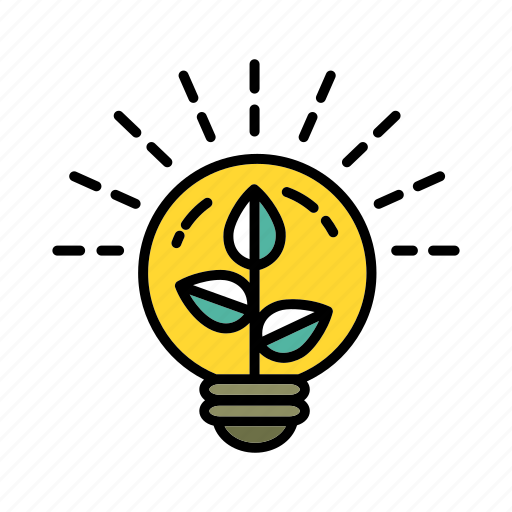 eco energy, ecology, electricity, environmental, friendly, green, nature icon