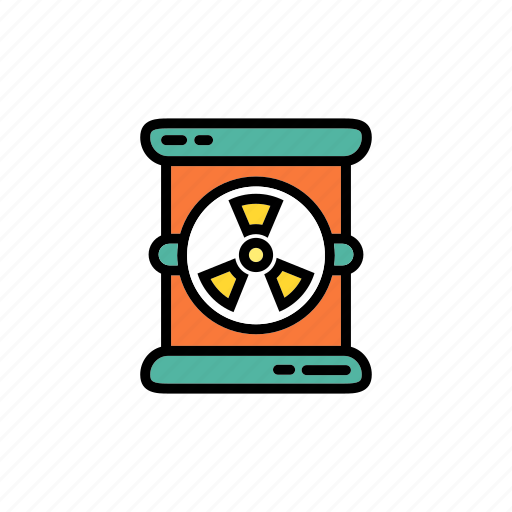 chemical, container, danger, hazard, radiation barrel, radioactive, toxic icon