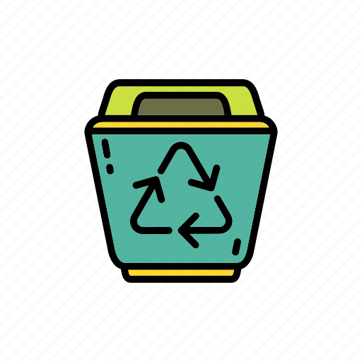 conservation, disposal, ecology, environment, garbage, recycle bin icon