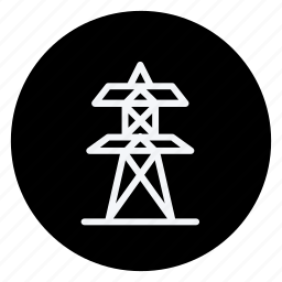 ecological, ecology, electric, electricity, energy, environment, tower icon