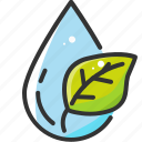 drop, eco, ecology, leaf, nature, plant, water icon