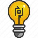 bulb, creative, creativity, idea, lamp, light, recycle icon