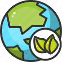 earth, eco, ecology, globe, green, leaf, world icon