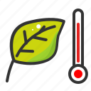 growth, heat, leaf, nature, plant, temperature, warming icon