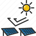battery, electric, energy, panel, power, solar, sun icon