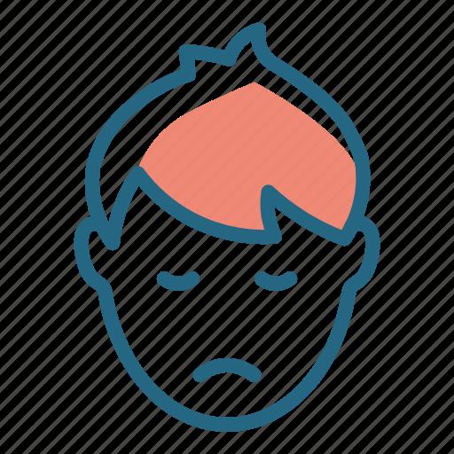 emotion, face, sad boy, sadness icon