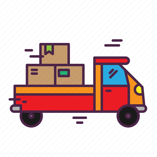 box, car, courier, delivery, truck icon