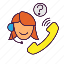 customer service, support icon