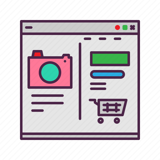 business, cart, ecommerce, product, shopping, website icon