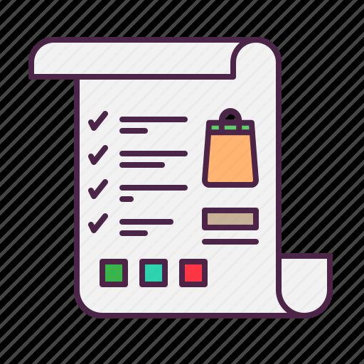 checklist, ecommerce, shoping, whistlist icon