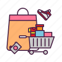 bag, cart, ecommerce, sale, shopping, tote icon