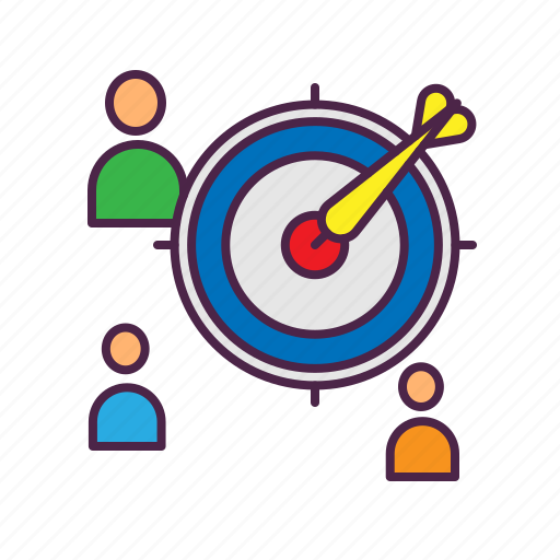 audience, dart, marketing, strategy, target icon