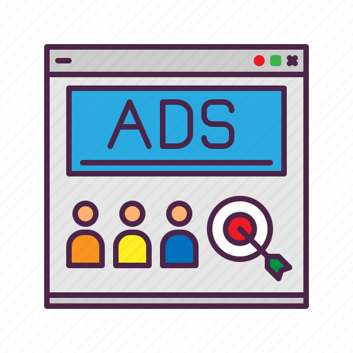 ads, audience, customer, ecommerce, marketing, target icon