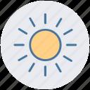 brightness, shining sun, sun, sunny day, sunshine, weather icon