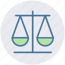 business, law, measure, modern, scales, weight icon