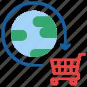 global, online, shopping, worldwide