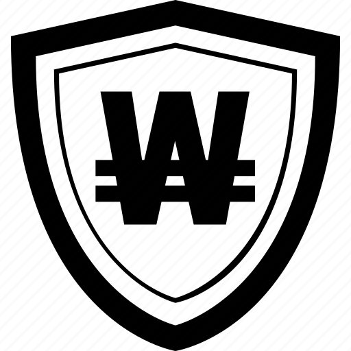 Mobile, won, online, secure, payment, shield icon