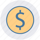 dollar, dollar sign, ecommerce, money icon