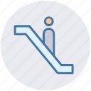 escalator, level, lift, staircase, stairs, up