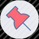 file pin, pin, pin board icon