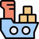 cargo, ship, transportation, distribution