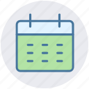 appointment, calendar, deadline, reminder, timeframe, yearbook icon