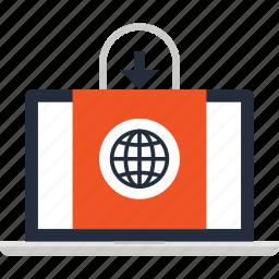 bag, commerce, digital, ecommerce, electronic, shopping, webshop icon