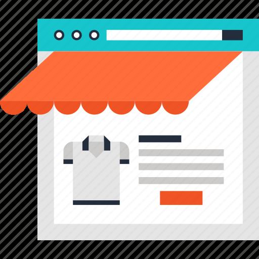 commerce, market, shop, shopping, store, web, webshop icon
