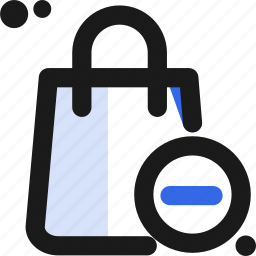 bag, buy, commerce, remove, sell, shopping icon