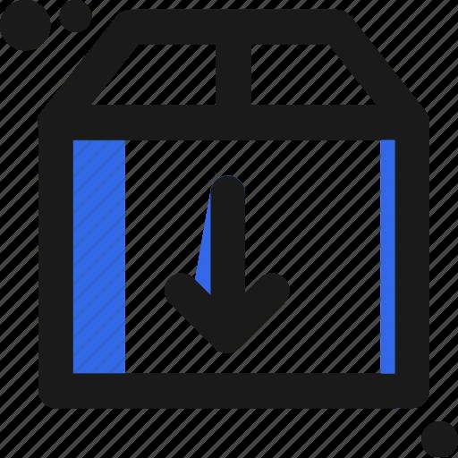 arrow, box, cloud, download, file icon