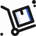 cart, commodity, merchandise, transportation, ware icon