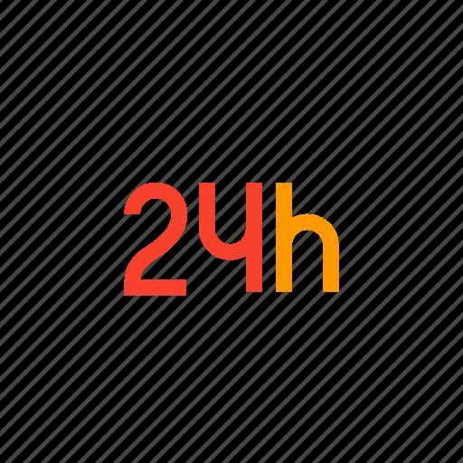 twenty four per hour icon
