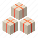 a lot of goods, boxes, gifts, lots, many packages, of, parcels icon