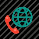 call, call center, center, conversation, online, phone, world icon