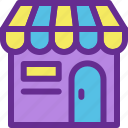 building, business, mall, shop, store icon