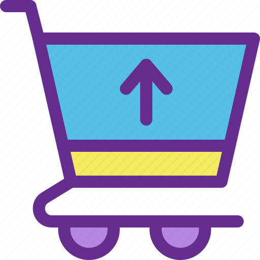 cart, checkout, ecommerce, online, payment, shop, up icon